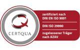 Zertifizierung nach DIN ISO 9001 und 29990